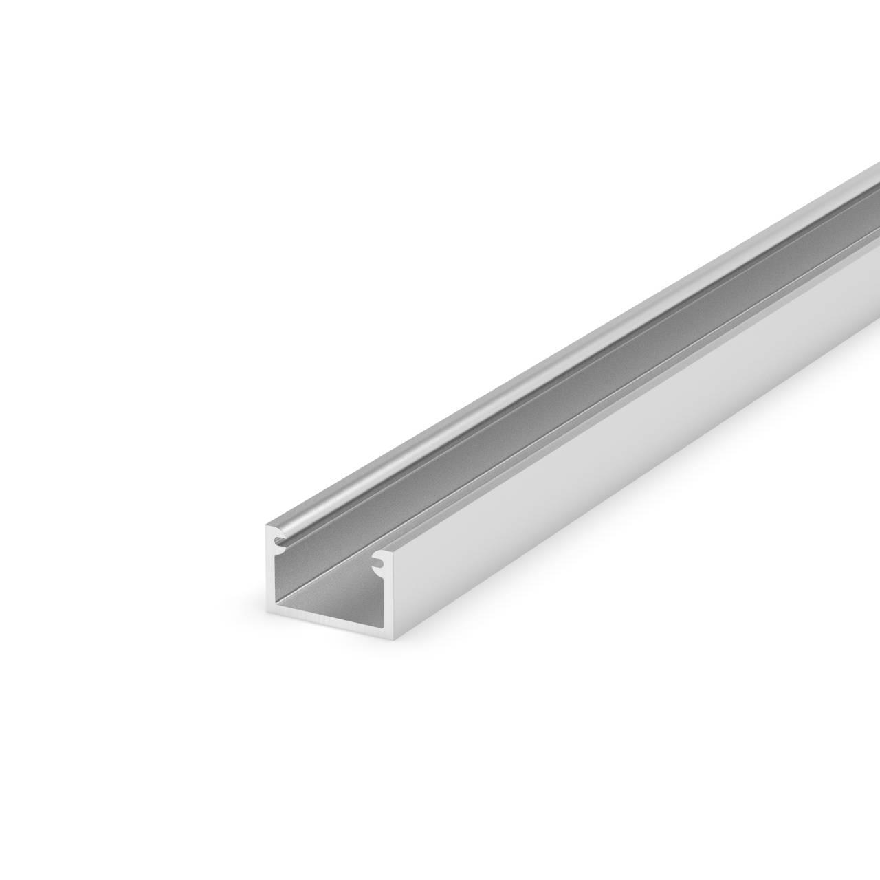 Profil do taśm LED P4-2 srebrny anodowany nawierzchniowy 2m zestaw